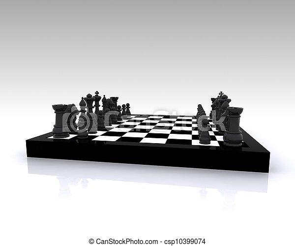xadrez, 3d - csp10399074