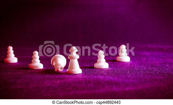 xadrez, tecido, fundo, pedaços - csp44892443