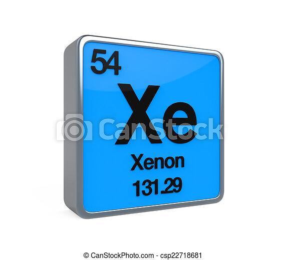 Xenon element periodic table isolated on white background stock xenon element periodic table csp22718681 urtaz Images