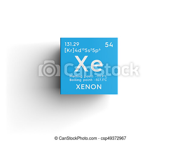 Xenon noble gases chemical element of mendeleevs periodic table xenon noble gases chemical element of mendeleevs periodic table xenon in square cube creative concept urtaz Image collections