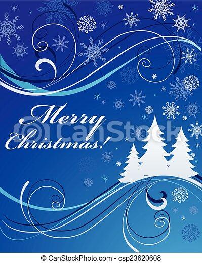 Xmas blue banner - csp23620608
