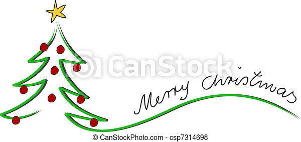 xmas card merry christmas - csp7314698