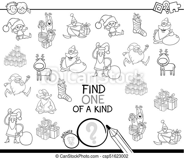 Xmas one of a kind game coloring book - csp51623002