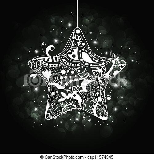 xmas star vector abstract floral christmas star