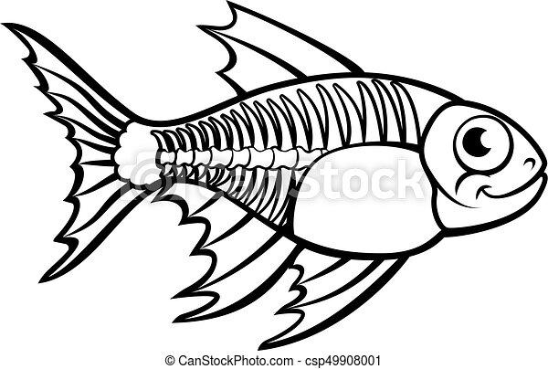xray tetra fish cartoon character an x ray tetra fish vector rh canstockphoto com x ray clip art images x ray clip art free