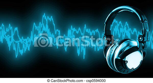 xxl), (+clipping, musik, pfad, hören - csp0594000