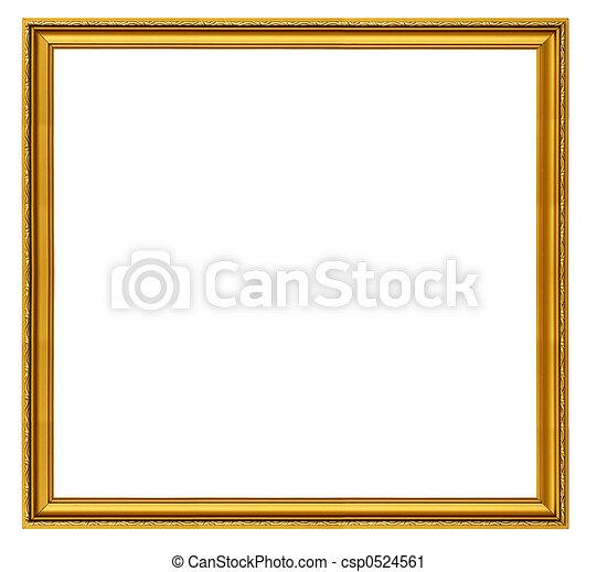 XXL size golden square frame - csp0524561