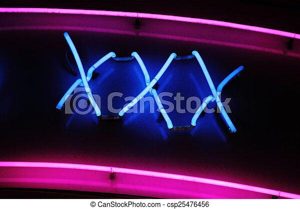 XXX neon sign - csp25476456