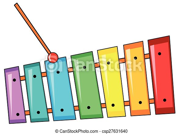 closeup colorful xylophone with the stick eps vector search clip rh canstockphoto com