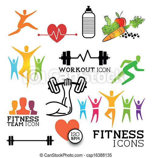 Los íconos de salud - csp16388135