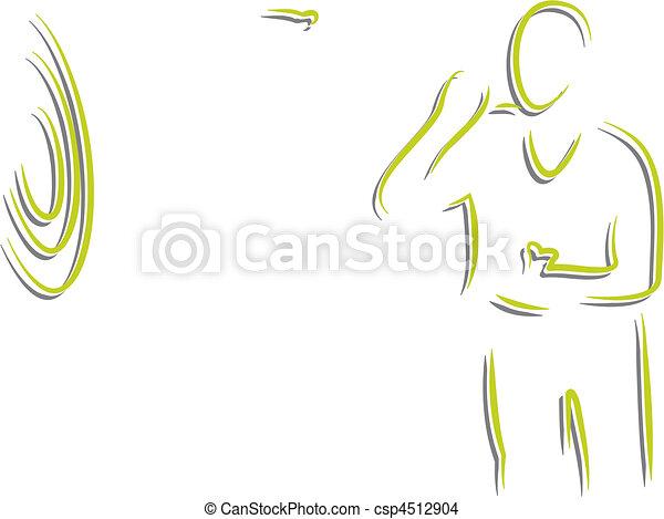 Salón de billar y dardos - csp4512904