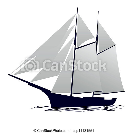 yacht old sailing ship illustration on white background clipart rh canstockphoto com yacht clipart free clipart yacht free download