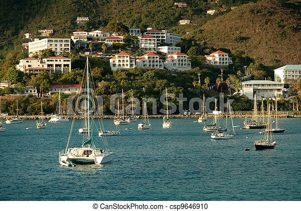 Yacht club in St.Thomas, US Virgin Islands - csp9646910