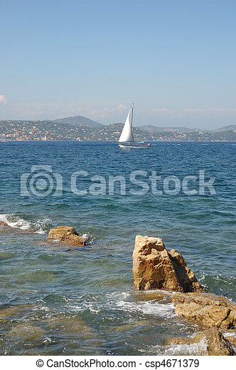 Yacht from St Tropez - csp4671379