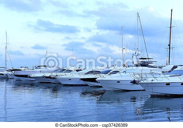 Yacht harbor - csp37426389