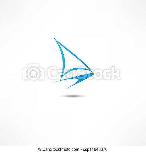Yacht Icon - csp11648376