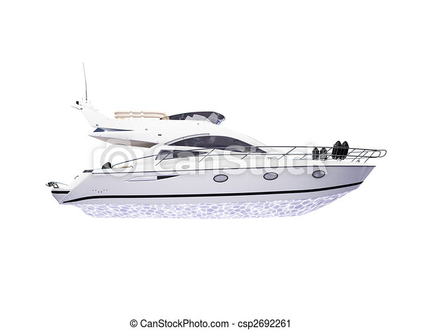 Yacht isolated side view - csp2692261