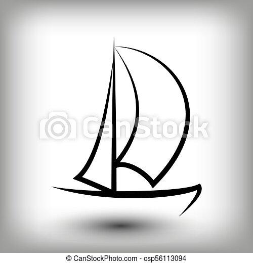 yacht logo templates sail boat silhouettes line sail icon eps