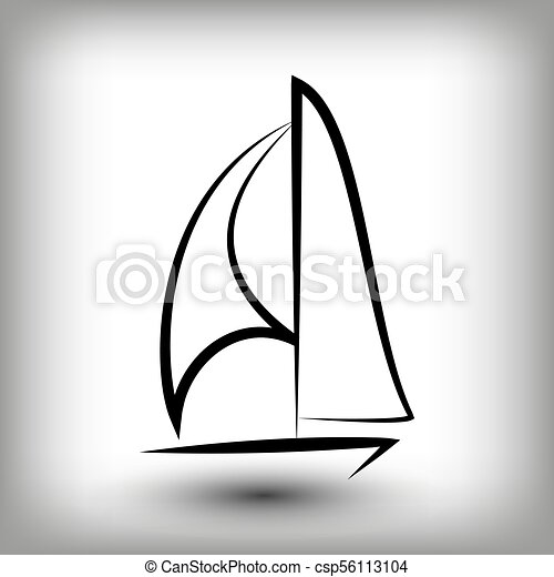 yacht logo templates sail boat silhouettes line sail icon vector