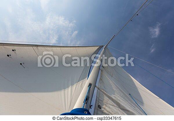 Yacht on lake - csp33347615