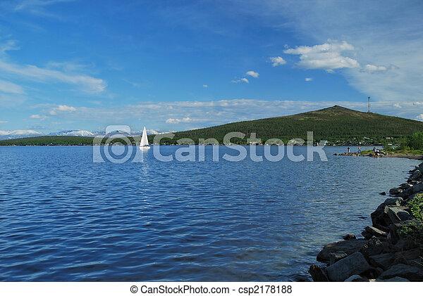 Yacht on lake - csp2178188