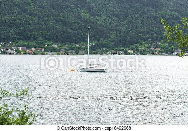 yacht on lake - csp16492668