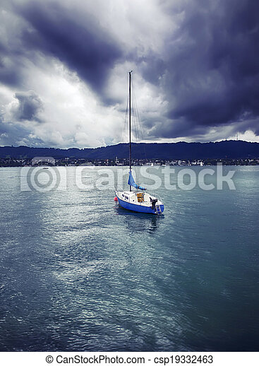 yacht on Lake - csp19332463