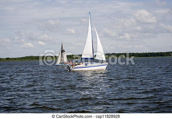 Yacht On lake - csp11828928