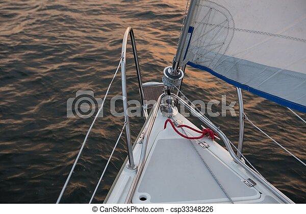 Yacht on lake - csp33348226
