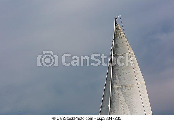 Yacht on lake - csp33347235