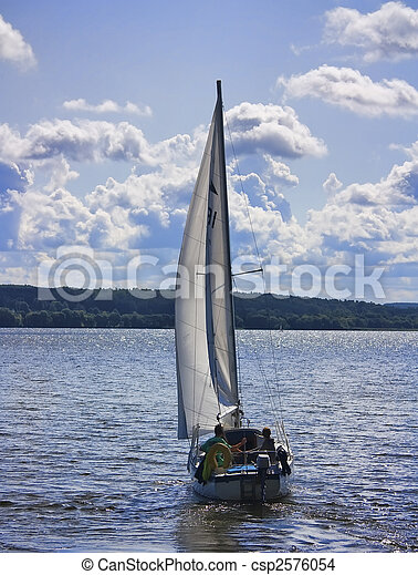 yacht on the lake - csp2576054