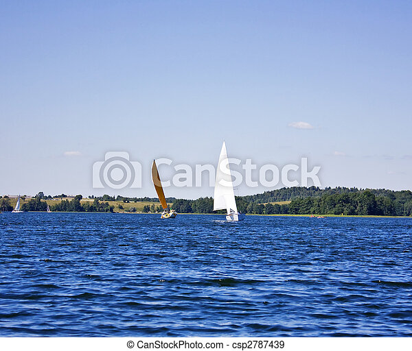 yacht on the lake - csp2787439