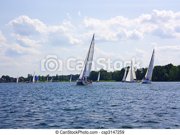 yacht on the lake - csp3147259