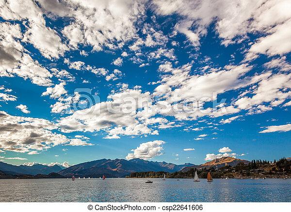 Yacht race on Lake Wanaka - csp22641606