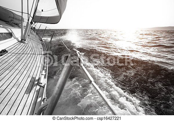 Yacht sailing regatta luxury yachts black and white photography