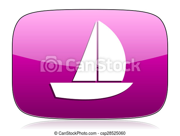 yacht violet icon sail sign - csp28525060