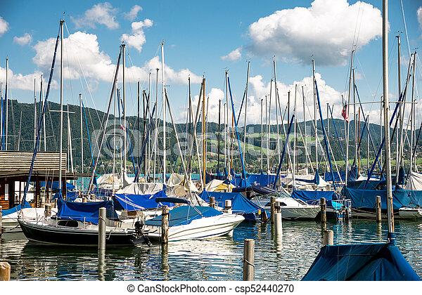 yachts at marina in the lake - csp52440270