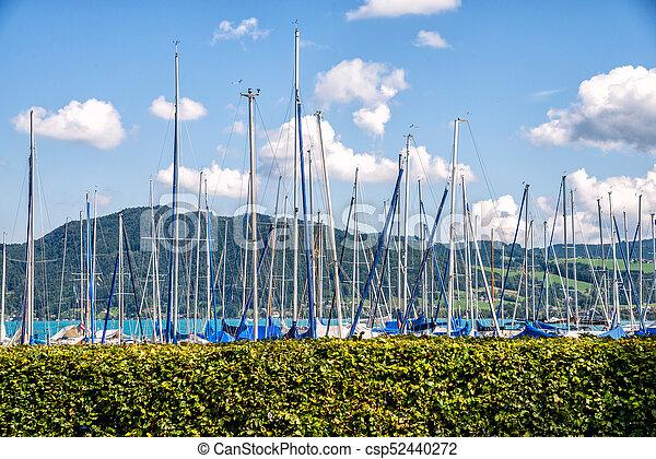 yachts at marina in the lake - csp52440272