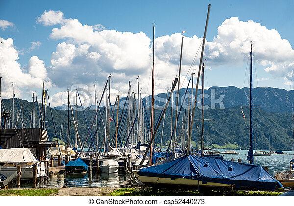 yachts at marina in the lake - csp52440273