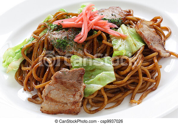 yakisoba, japanese food - csp9937026