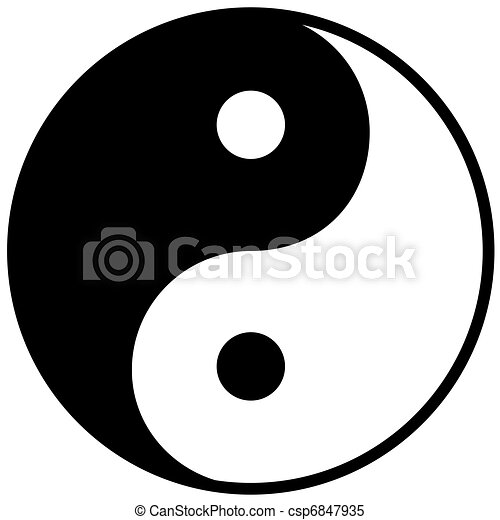 Ying yang símbolo de armonía y equilibrio - csp6847935