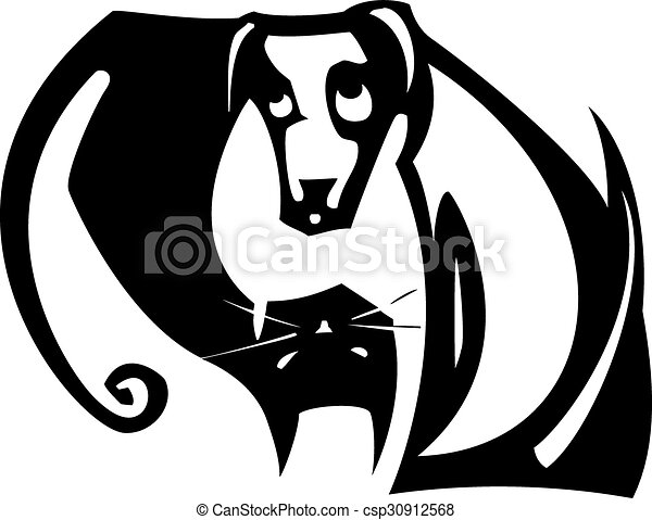 yang yin, chien, chat - csp30912568