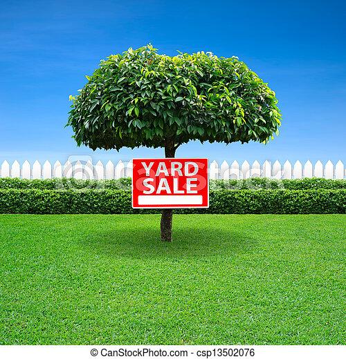 Yard sale sign - csp13502076