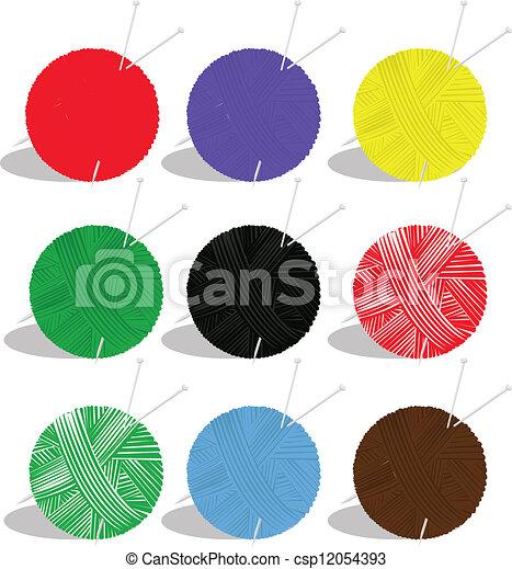yarn balls - csp12054393