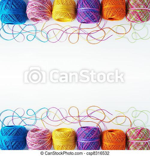 Yarn coils on white - csp8316532