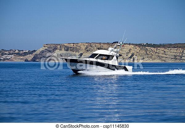 yatch speeding on the water - csp11145830