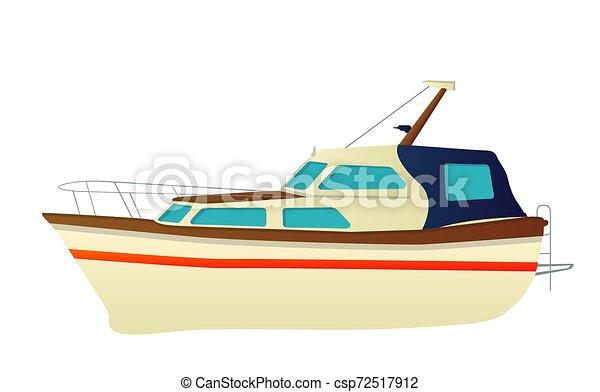 Vector yate, lancha rápida - csp72517912