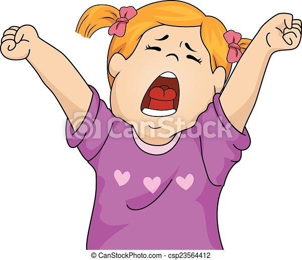 yawning girl illustration featuring a girl letting out a big yawn rh canstockphoto com yawn clipart black and white yawning clipart