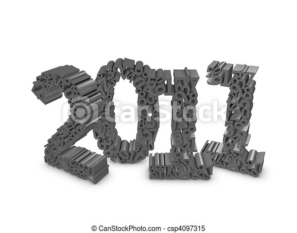 year 2011 - csp4097315
