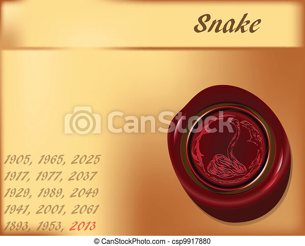 Year of Snake - background - csp9917880